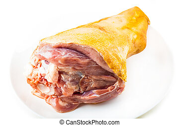 platte, schweinefleisch, frisch, schaft, roh