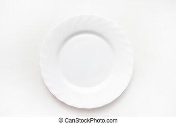 platte, weißes