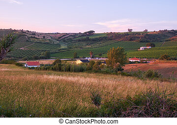 platteland, portugees, lisbon., portugal, aanzicht