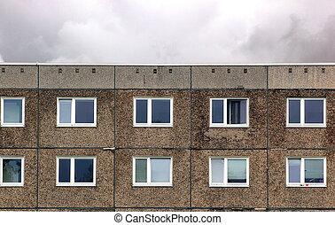 Plattenbau In Eastern Germany - Part of a generic building ...