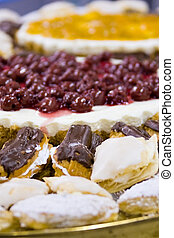 platter with cakes