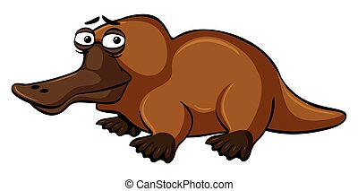 Platypus with sad face