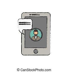 plaudern, smartphone, technologie