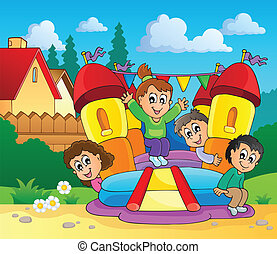 Play and fun theme image 1 - eps10 vector illustration.