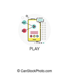 Play App Player Cell Smart Phone Icon