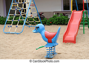 Play Area - Children play area on a bright summer day