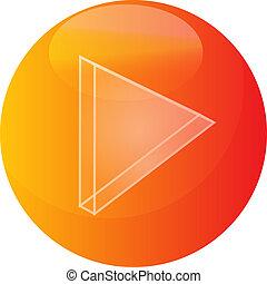 Play audio icon - Play Audio icon illustration, triangle...