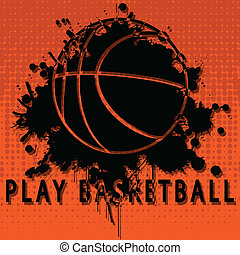 Illustration abstract background of basketball as a popular sport.