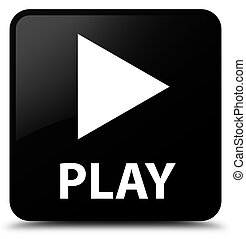 Play black square button
