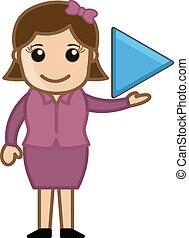 Play Button - Business Cartoons