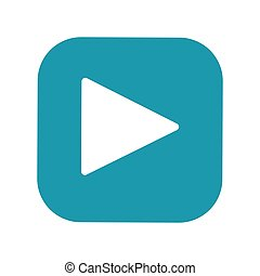 Play button flat vector icon