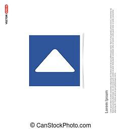 Play Button Icon - Blue photo Frame