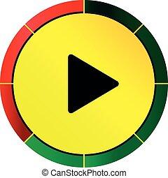 Play button icon - button player vector