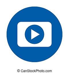 play button icon, on white background