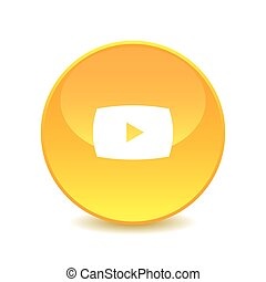 play button , play button icon on white background , Vector.