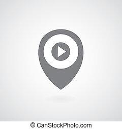 play button pointer symbol