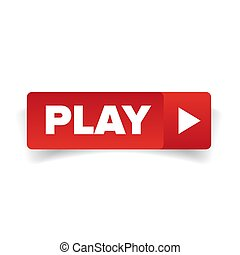 Play button red vector