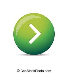Play button round vector green