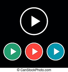 Play button sign. Play video icon. Illustration