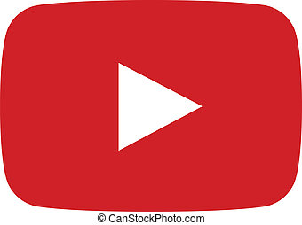 Vector red play button for famous streaming website