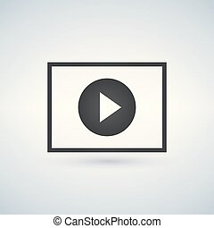 Play circle button in square