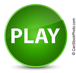 Play elegant green round button
