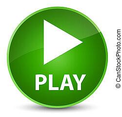 Play elegant green round button