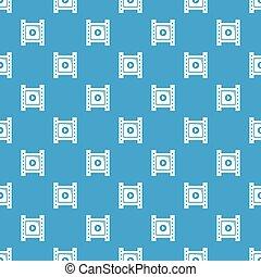 Play film strip pattern vector seamless blue