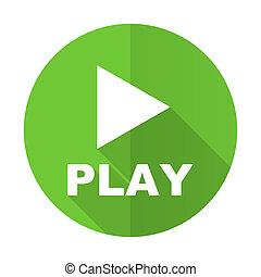 play green flat icon