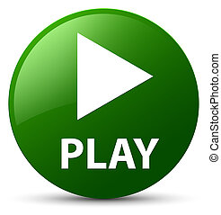 Play green round button