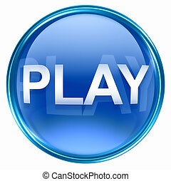 Play icon blue