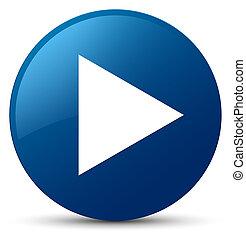 Play icon blue round button
