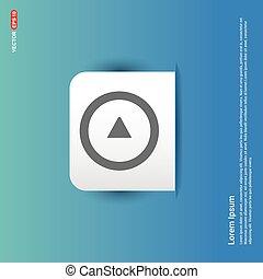 Play Icon - Blue Sticker button