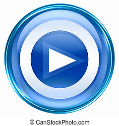 Play icon button blue