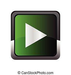 Play icon button vector