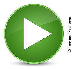 Play icon elegant soft green round button