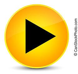 Play icon elegant yellow round button