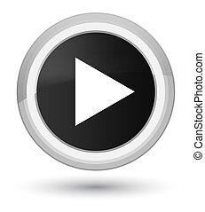 Play icon prime black round button