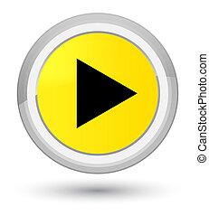 Play icon prime yellow round button