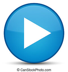 Play icon special cyan blue round button