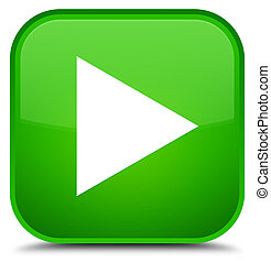 Play icon special green square button