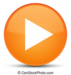 Play icon special orange round button