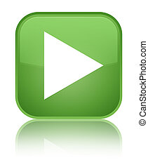 Play icon special soft green square button