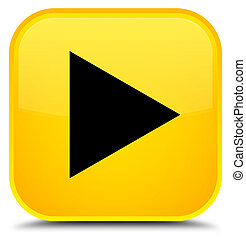 Play icon special yellow square button