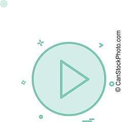 play icon vector design