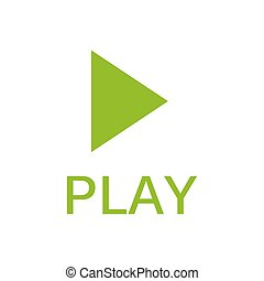 Play icon, vector. green icon. eps 10