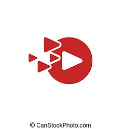 Play icon vector illustration design