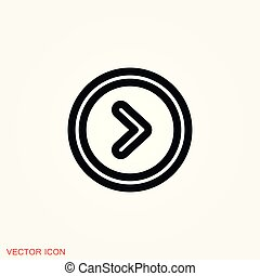 play Icon vector sign symbol for design