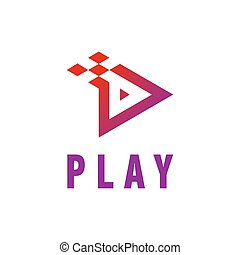 Play Icon Video And Music Application Button Design. Creative Template Logo Vector Illustration