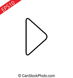 Play icon, video play button symbol. Modern, simple flat illustration for web site or mobile app